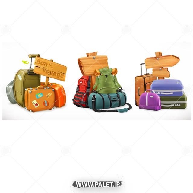 وکتور انواع کیف و ساک و کوله مسافرتی