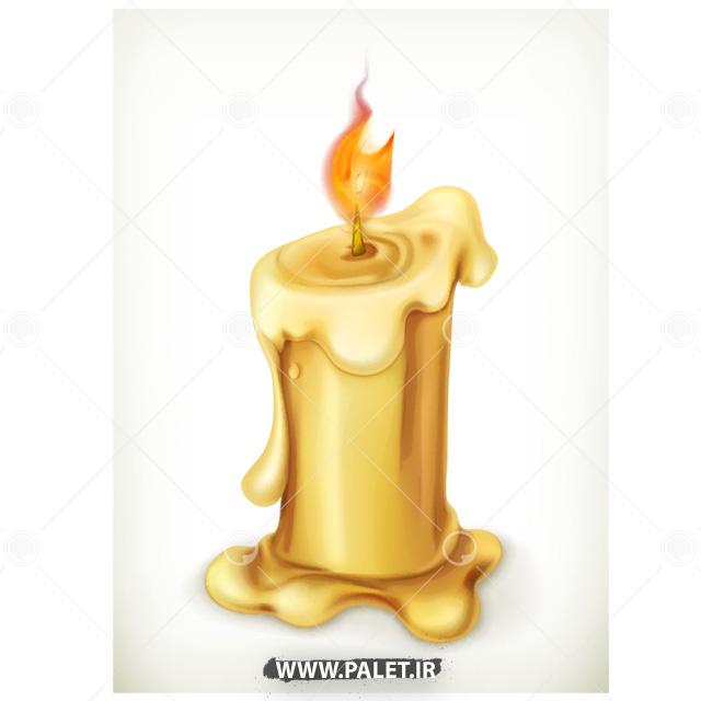 وکتور شمع روشن گرافیکی