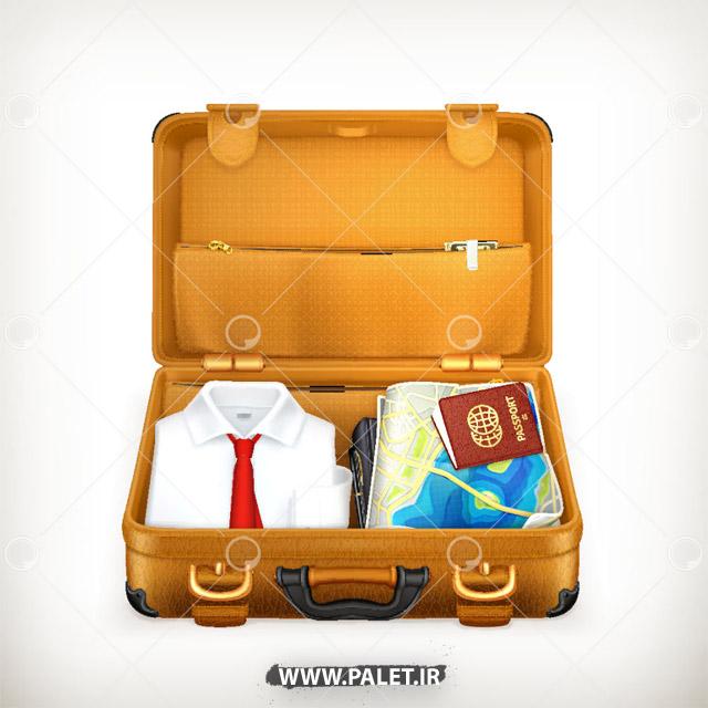 وکتور کیف مسافرتی همراه لوازم