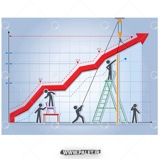 دانلود وکتور طراحی نمودار گرافیکی