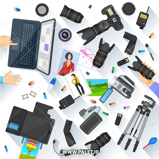 طرح وکتور عکاسی و فیلمبرداری