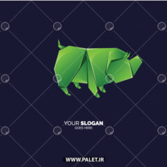 دانلود لوگو اوریگامی خوک سبز