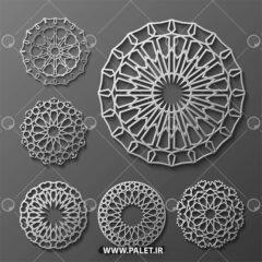 وکتور های اسلیمی در 6 طرح مختلف