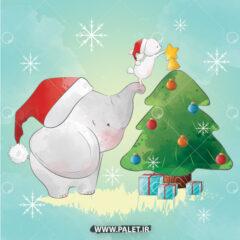 دانلود طرح فیل کارتونی برای جشن
