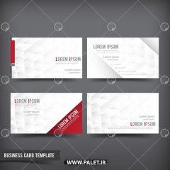 دانلود کارت ویزیت لایه باز قرمز و سفید