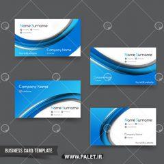 دانلود وکتور کارت ویزیت تجاری آبی 07