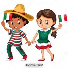 دانلود وکتور دختر و پسر ایتالیایی کارتونی