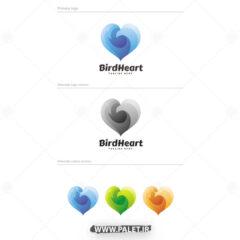 دانلود لوگو فانتزی طرح قلب رنگی