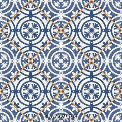 دانلود وکتور کاشی آبی مراکشی زیبا