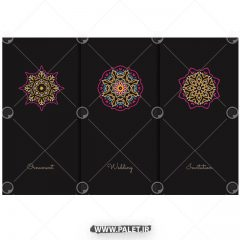 دانلود طرح ماندالا سنتی روی بروشور