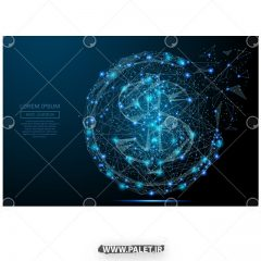 دانلود وکتور ایکون طرح دلار نوری