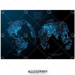 دانلود پس زمینه کره زمین نور آبی