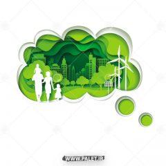 دانلود وکتور زندگی سبز