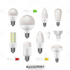دانلود وکتور لامپ در طرح متنوع