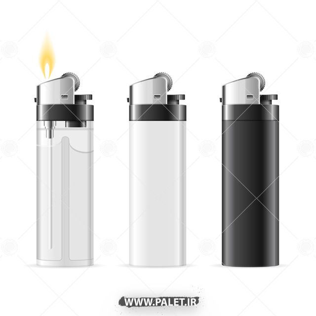 دانلود وکتور سه طرح فندک ساده