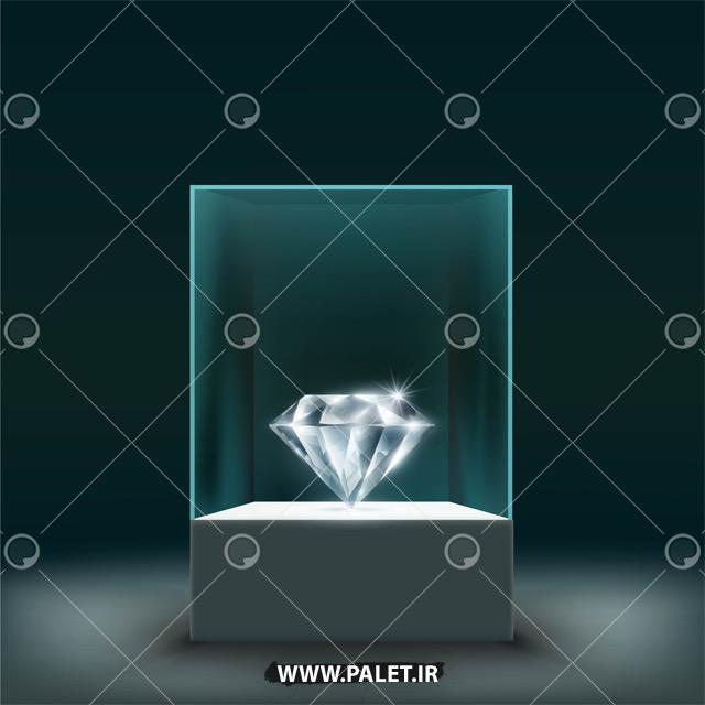 دانلود وکتور الماس قیمتی درخشان