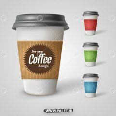 دانلود موکاپ لایه باز لیوان قهوه فوری