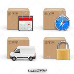 دانلود وکتور ارسال کالا و پست پیشتاز
