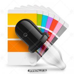 دانلود وکتور طیف رنگی و رنگ چکان
