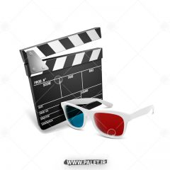 دانلود وکتور سینما سه بعدی گرافیکی