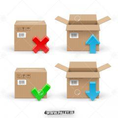 دانلود وکتور باکس و جعبه های کالا