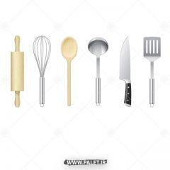 دانلود وکتور وسایل آشپزی خانگی