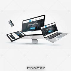 دانلود وکتور لپ تاپ و کامپیوتر دیجیتال