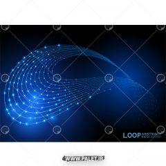 دانلود وکتور پس زمینه نورانی آبی سه بعدی