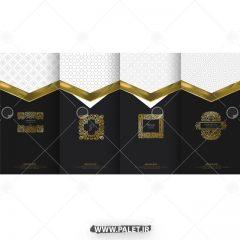 دانلود وکتور طلایی بروشور تجاری شیک