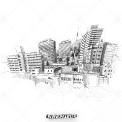 دانلود وکتور طرح ساختمان های شهری