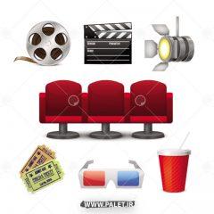 دانلود وکتور طرح های سینما و اکران فیلم