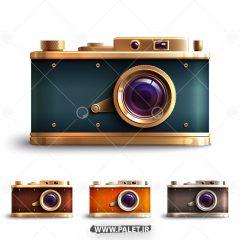 دانلود چهار طرح دوربین عکاسی قدیمی گرافیکی